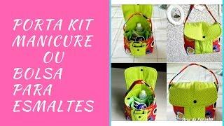 Porta Kit Manicure/ Bolsa Para esmaltes por Arte de Paninho