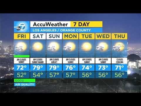 FORECAST VIDEO: Sunny skies on tap Friday for SoCal   ABC7