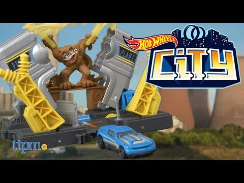 Hot Wheels City Downtown Power Plant, Police Station, Fire Station, and Fuel Stop from Mattel