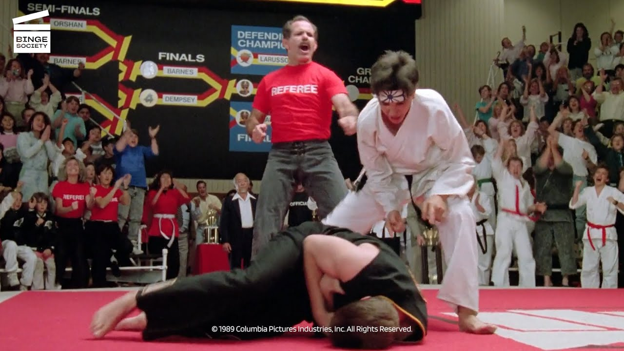 The Karate Kid Part III: Daniel VS Mike HD CLIP