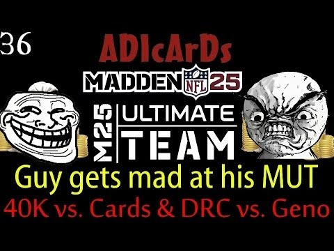 Madden 25 Ultimate Team | Guy RAGES at his MUT players after game! | Card/Coin Game | MUT 25