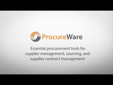 ProcureWare Overview 2016