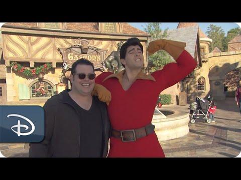 'Beauty & The Beast' Actor Josh Gad Meets Gaston  Walt Disney World