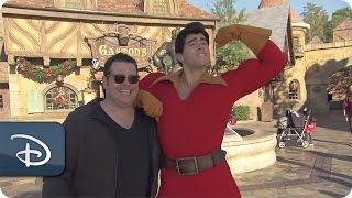 'Beauty & The Beast' Actor Josh Gad Meets Gaston | Walt Disney World