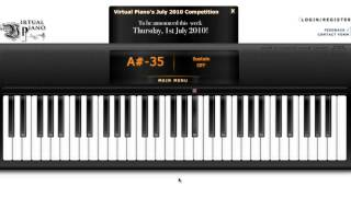 [ Virtual Piano ] Song For a Stormy Night With Auto Keyborad