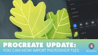 Procreate Update: Now You can Open Photoshop (PSD) Files(Procreate just launched a big update. You can now import Photoshop files. They have also overhauled how layers worked and added a bunch of functionality to ..., 2016-12-05T19:50:49.000Z)