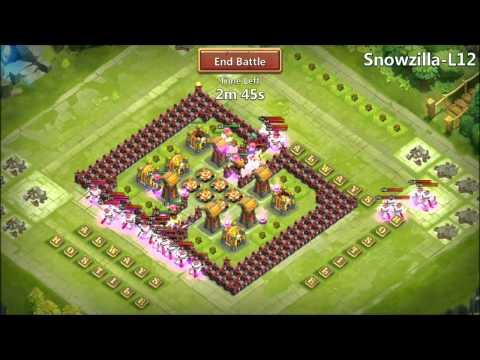Jtisallbusiness Hero Trial Snowzilla L12 Level 250s Castle Clash
