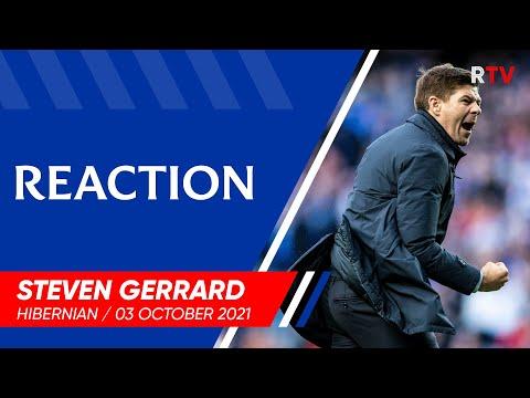 REACTION | Steven Gerrard | Rangers v Hibernian