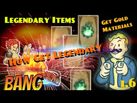 Fallout Shelter How Get Legendary Items Mission Tutorial Lvl 50