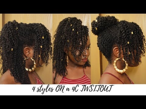 4 STYLES ON A TWIST OUT FOR 4C HAIR
