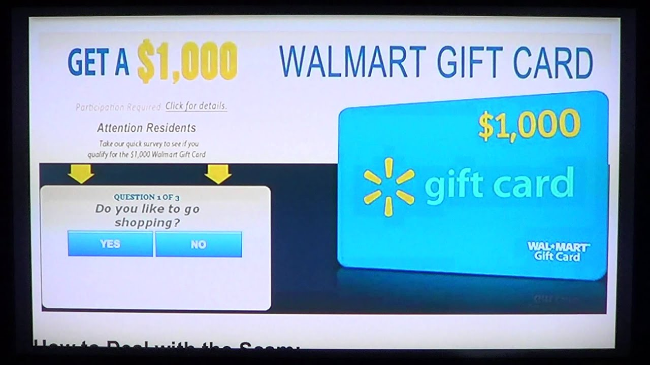 Facebook and Internet $500 and $1000 fake walmart gift cards scam ...