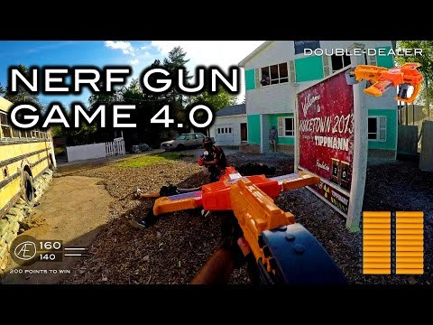 Nerf meets Call of Duty: Gun Game 4.0   First Person on Nuketown in 4K!