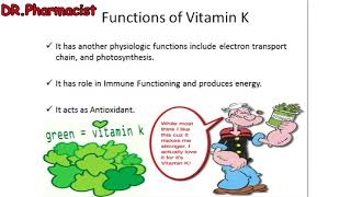Vitamin K and its Functions, Daily Requirements, Symptoms of Deficiency, and Food contain Vitamin K