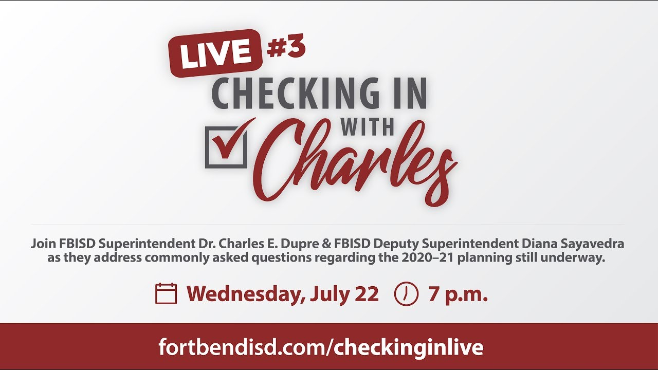 Checking In with Charles Live #3 | July 22, 2020