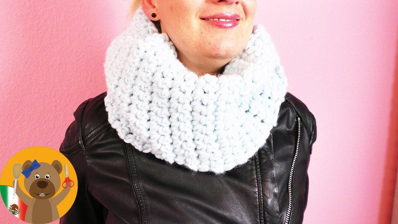 DIY tejer un chal o bufanda/ Tutorial super fácil para principiantes ...