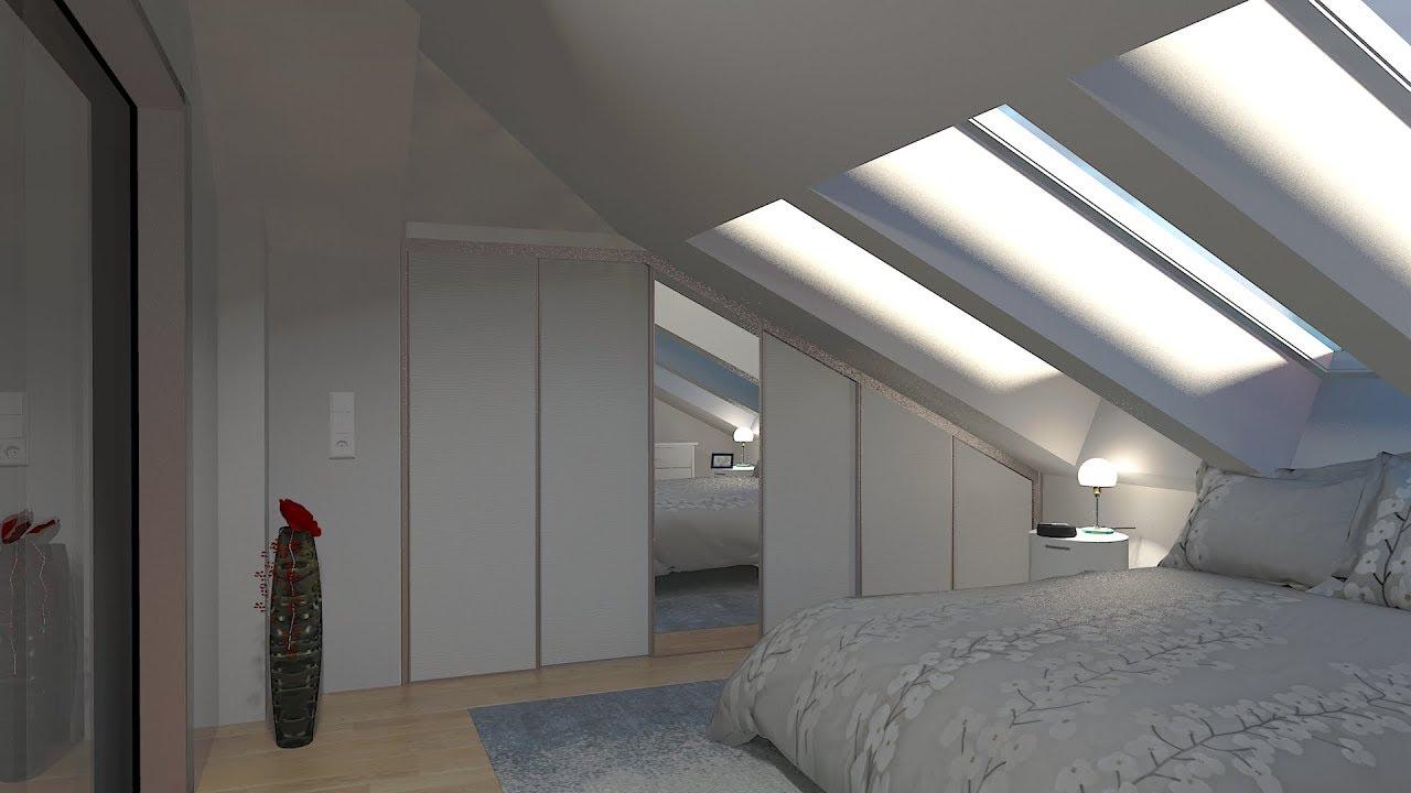 Einbauschrank Unter Langgezogener Dachschrage