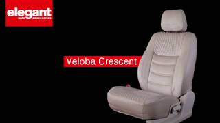 Veloba Crescent Car Seat Covers | Designer Seat Covers for Car | Velvet Fabric Seat Cover