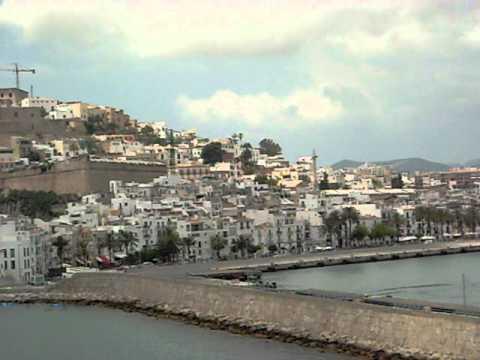 IBIZA / Spain/  - view  from the port on Eivissa.AVI
