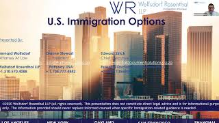 Start Your U.S. Immigration Journey | Featuring Bernard Wolfsdorf, Dianne Stewart, Edward Strick