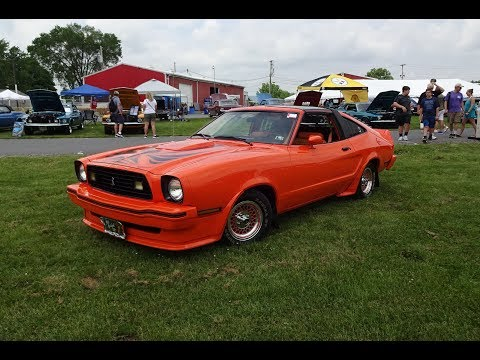1978 Ford Mustang King Cobra in Orange & 302 Engine Sound on My Car Story with Lou Costabile