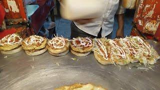 Chicken Burger | Tawa Chicken Burger | Bun Kabab | Anday Wala Burger | Street Burger