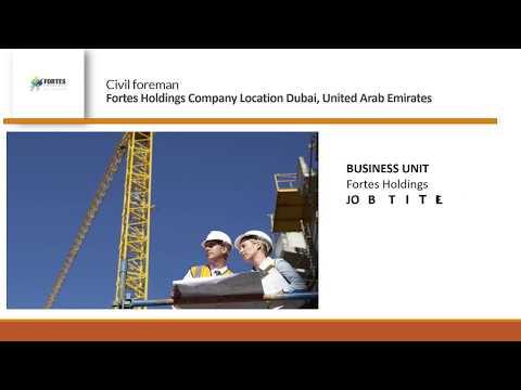 Civil foreman job vacancy Dubai - YouTube