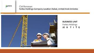 Civil foreman job vacancy  Dubai