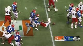 Jeff Thomas (Miami WR) vs. Florida 2019