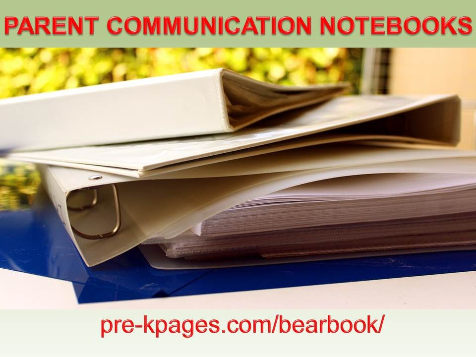 photo about Printable Notebooks named Printable Dad or mum Conversation Notebooks for Preschool