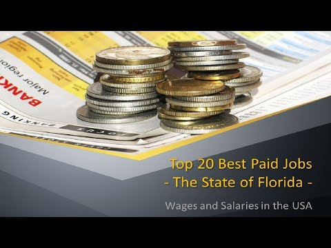 20 Best Paid Jobs in Florida, USA
