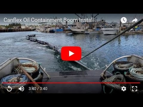 Canflex Oil Containment Boom Install