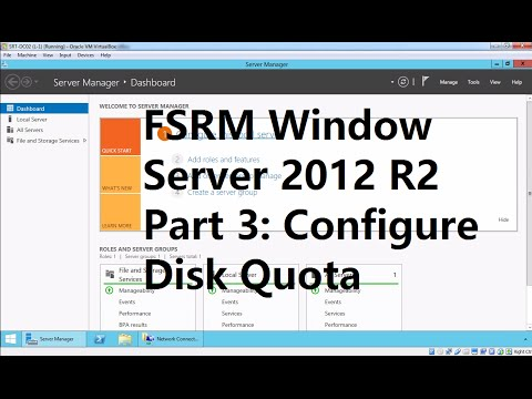 24. FSRM  Disk Quota Enforcement on User Home Directory