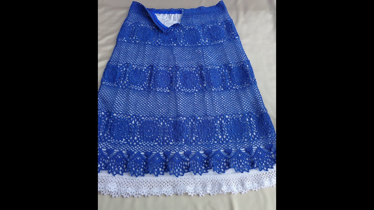 Вязаные юбки для начинающих крючком