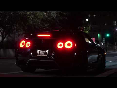 Nissan GTR Night Cruise In Houston