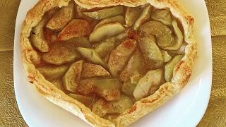 Яблочный пирог из дрожжевого слоеного теста / Офелия