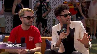 Chromeo w/A-Trak Interview - Coachella 2018