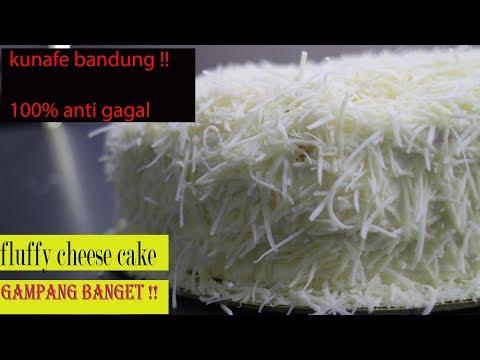 RESEP BANDUNG KUNAFE ! GAMPANG 100% ANTI GAGAL Japanese Cheese Cake