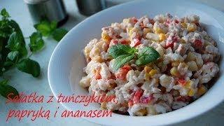 Sałatka z tuńczykiem, papryką i ananasem - TalerzPokus.tv