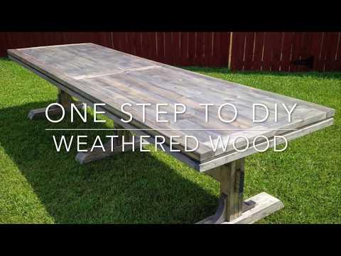 1 step to DIY Weathered Wood