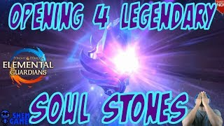 Opening 4 Legendary Soulstones - Might and Magic Elemental Guardians