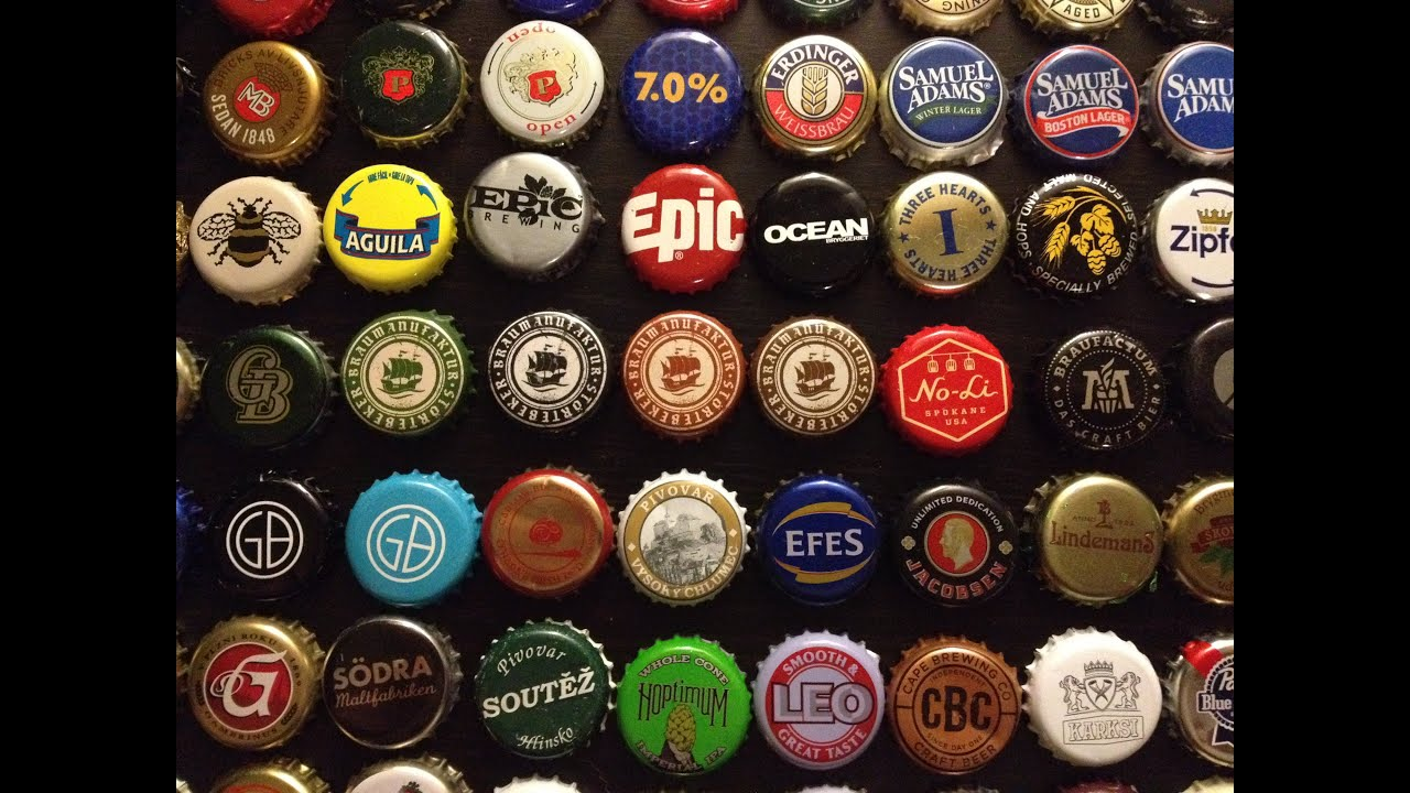 My beer bottle cap collection youtube for What can i make with beer bottle caps