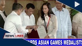 SPORTS NEWS: Du30 awards Asian Games medalists