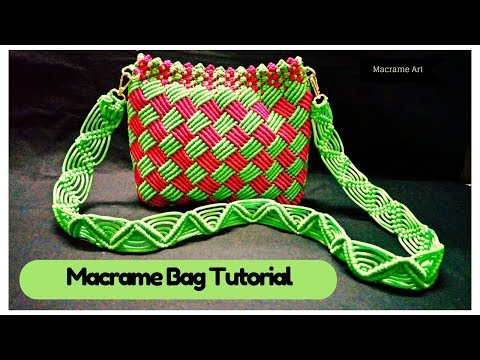 How to make easy macrame bag tutorial in hindi | Macrame Art-| easy and simple Macrame Tutorial