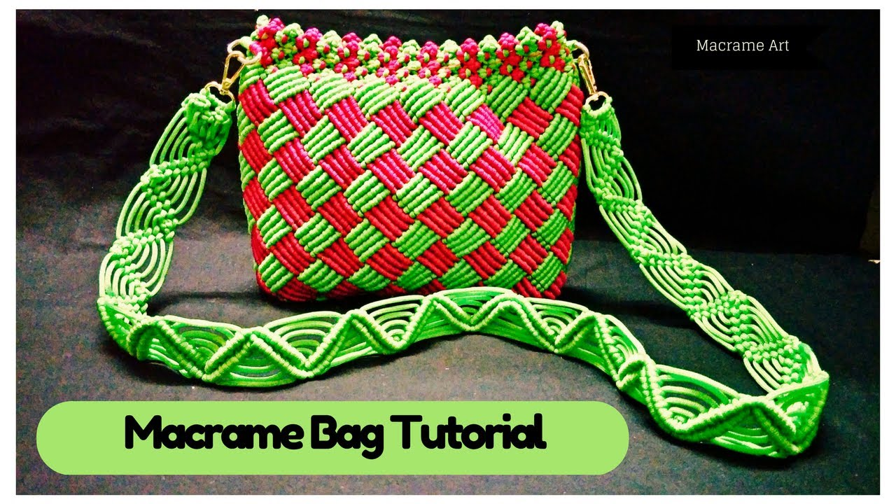 How To Make Easy Macrame Bag Tutorial In Hindi Macrame