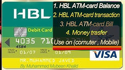 HBL ATM card balance and transaction online By Mubeen Tutorial