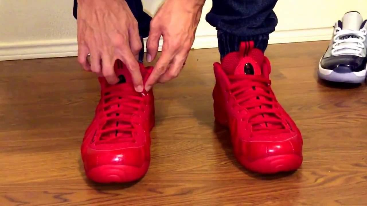 the latest b7125 7a808 Foamposite Pro Yeezy Red October s unboxing and on feet review