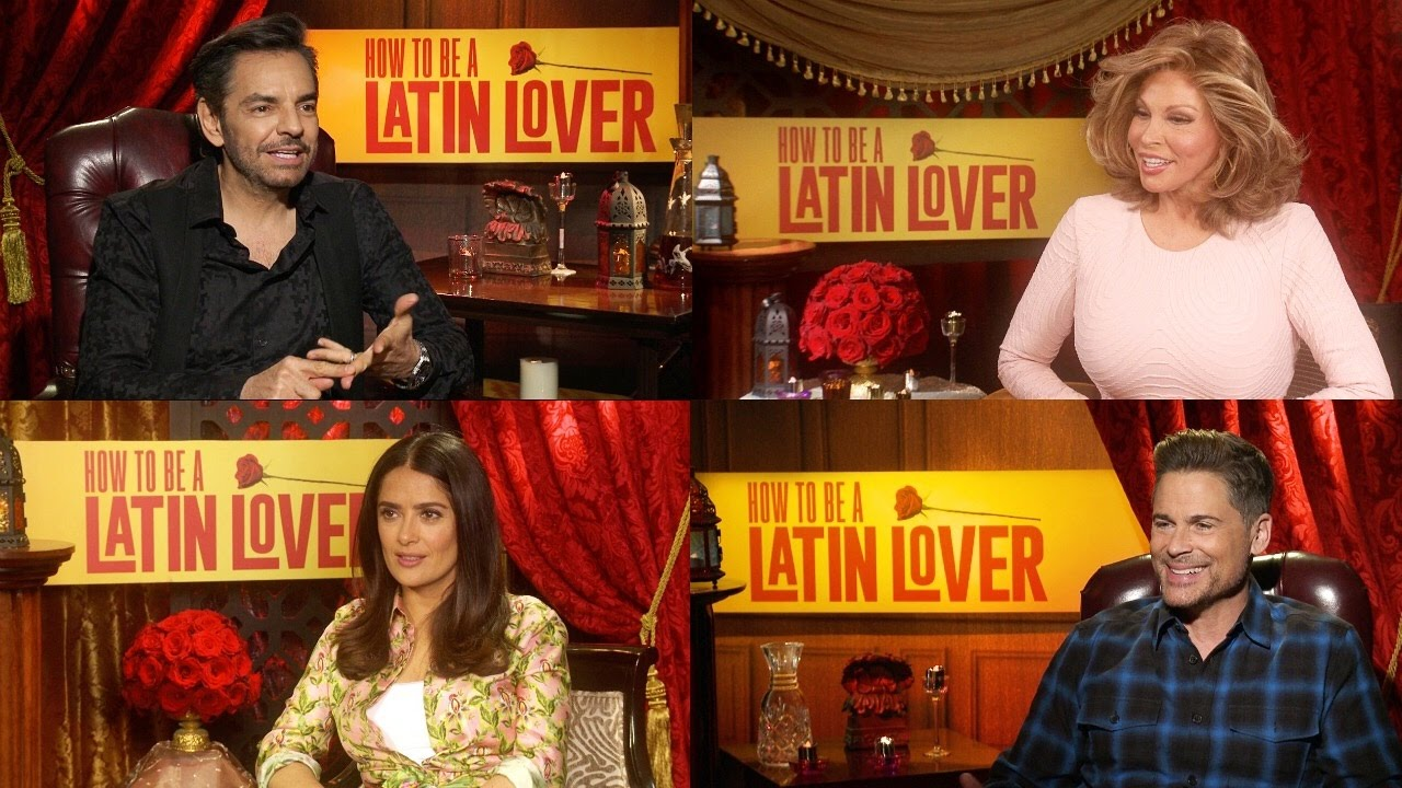 How To Be A Latin Lover  Cast Interviews  Eugenio Derbez, Rob Lowe, Salma  Hayek, Raquel Welch