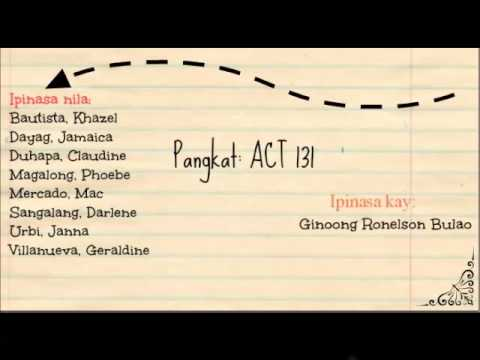 National University- Manila ACT 131 Radio Drama