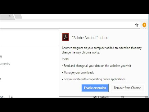 What Is the Adobe Acrobat Extension Chrome Wants Me to