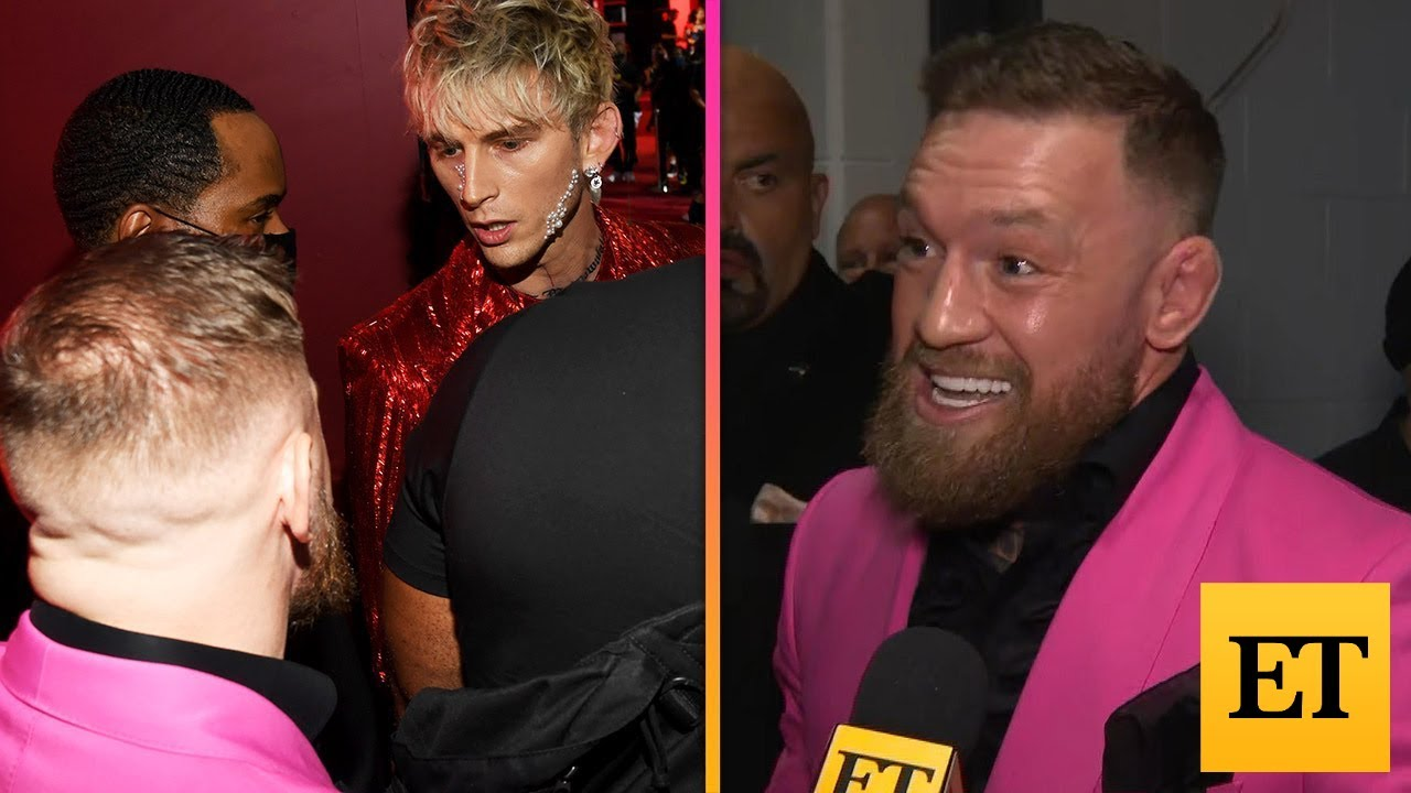 PlayTube Entertainment: Conor McGregor REACTS to Machine Gun Kelly FIGHT at VMAs!